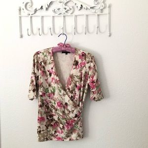 Jones New York Spring Faux Wrap Sweater
